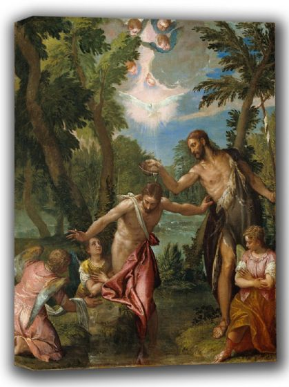 Veronese, (Paolo Caliari): The Baptism of Christ. Fine Art Canvas. Sizes: A4/A3/A2/A1 (002026)
